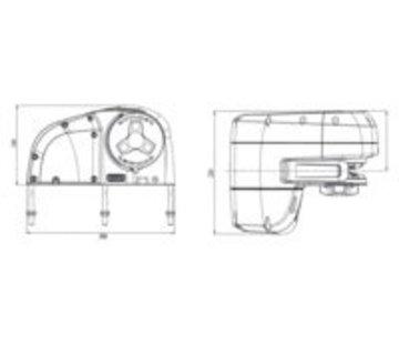 Lewmar HX1 800 GD 8mm STD KIT