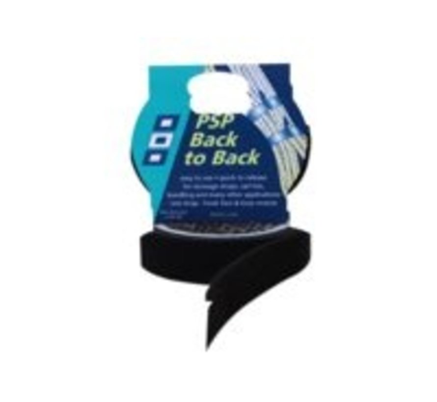 Back to back klittenband zwart