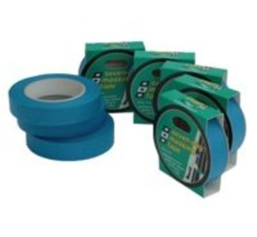 7day masking Tape blauw 25mm 25m