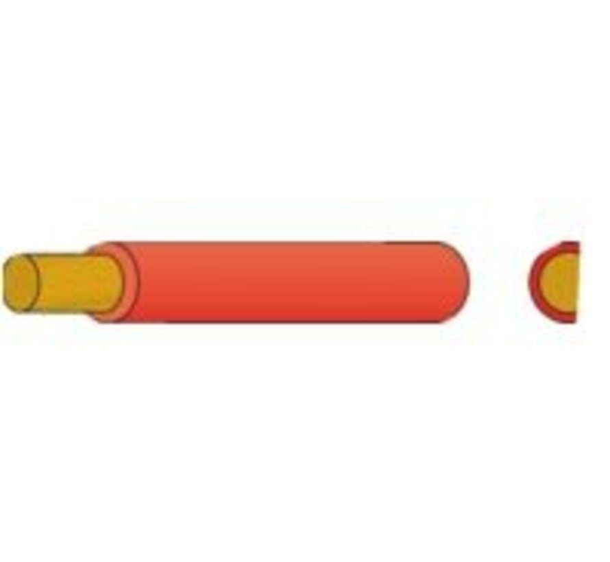 Accukabel geïsoleerd 25mm² rood