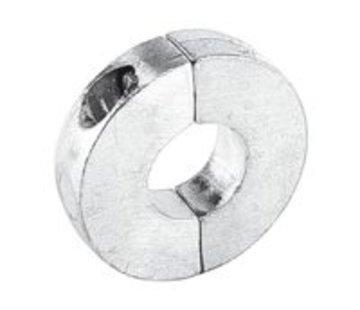 Talamex Schroefas Anode 28MM Aluminium Plat