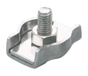 Talamex Staaldraadklem enkel 3mm
