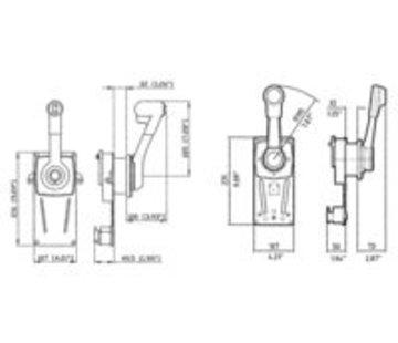 Ultraflex Model B85 met positieve neutraalstand blokkering