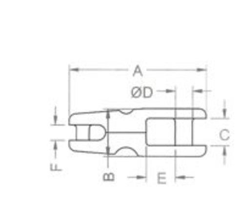 Kong Ankerkettingverbinder rvs 12-14mm