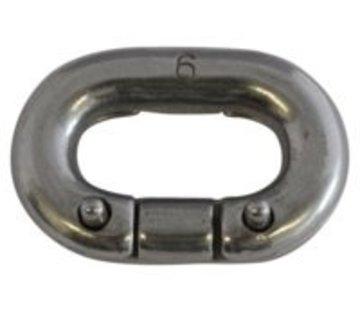 Talamex Ketting verbinder rvs 6mm