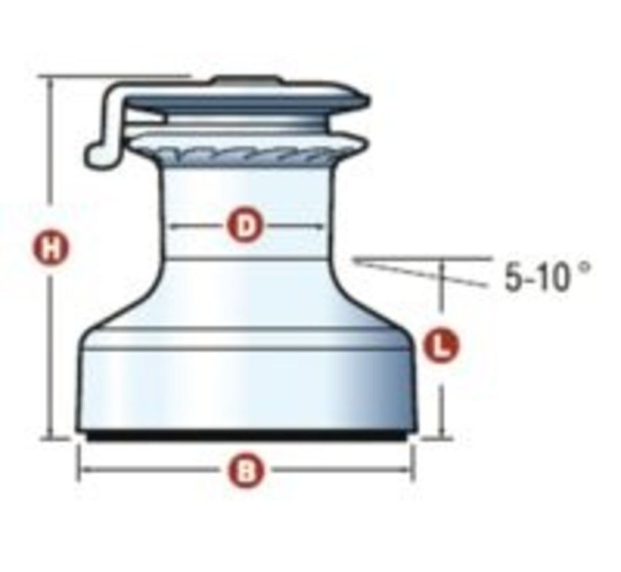 50ST alu EVO selftailing lier grijs