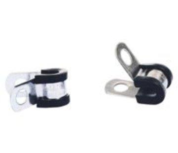 JCS RVS p-clip 21mm