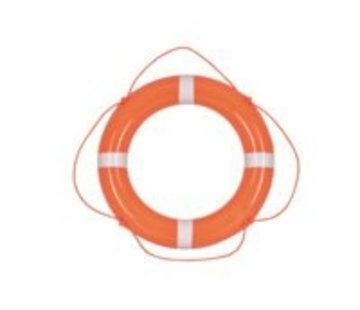 Talamex Reddingsboei pvc oranje 60cm met witte strips en oranje lijn