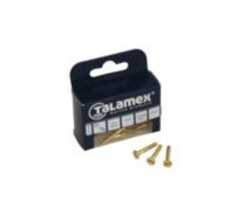 Talamex Houtschroef messing verz 3.0x12mm (6)