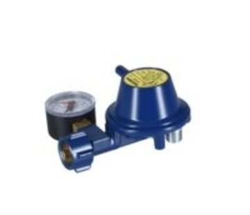 Talamex Gasdrukregelaar 90° aansluiting met manometer
