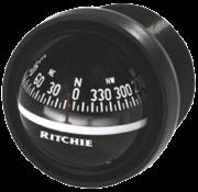 Ritchie Kompas model Explorer V-57.2  12V  dashboardkompas  roosDiameter69 9mm / 5Graden  zwart