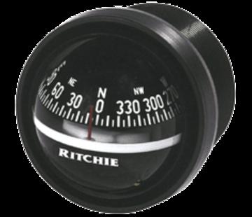 Ritchie Ritchie Kompas model Explorer V-57.2  12V  dashboardkompas  roosDiameter69 9mm / 5Graden  zwart