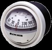 Ritchie Kompas model Explorer V-57W.2  12V  dashboardkompas  roosDiameter69 9mm / 5Graden  wit