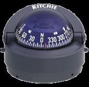 Ritchie Kompas model Explorer S-53G  12V  opbouwkompas  roosDiameter69 9mm / 5Graden  grijs