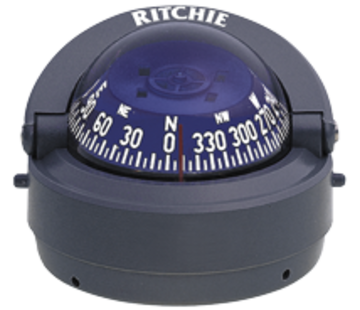 Ritchie Ritchie Kompas model Explorer S-53G  12V  opbouwkompas  roosDiameter69 9mm / 5Graden  grijs