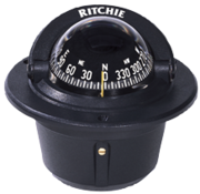 Ritchie Ritchie Kompas model Explorer F-50  12V  inbouwkompas  roosDiameter69 9mm / 5Graden  zwart