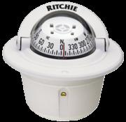 Ritchie Kompas model Explorer F-50W  12V  inbouwkompas  roosDiameter69 9mm / 5Graden  wit