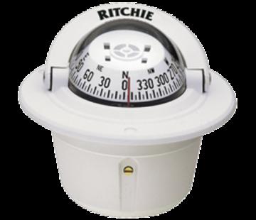 Ritchie Ritchie Kompas model Explorer F-50W  12V  inbouwkompas  roosDiameter69 9mm / 5Graden  wit