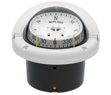Ritchie Ritchie Kompas model Helmsman  HF-743W  12V  inbouwkompas  roosDiameter95mm / 5Graden  wit