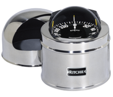 Ritchie Ritchie Kompas model Globemaster D-515-P  12/24/32V  opbouw Diameter127mm / 2 of 5Graden  RVS (motor)