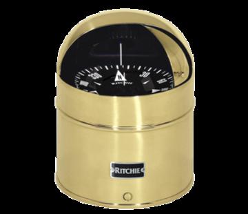 Ritchie Ritchie Kompas model Globemaster D-615-EX  12/24/32V  opbouw Diameter152 4mm / 2 of 5Graden  messing (zeil)