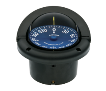 Ritchie Ritchie Kompas model Supersport SS-1002  12V  inbouwkompas  roosDiameter93 5mm / 5Graden  zwart