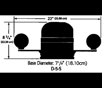 Ritchie Ritchie kompas model Globemaster D-5-S-B  12/24/32V  opbouwkompas  roosDiameter127mm / 2 of 5Graden  zwart
