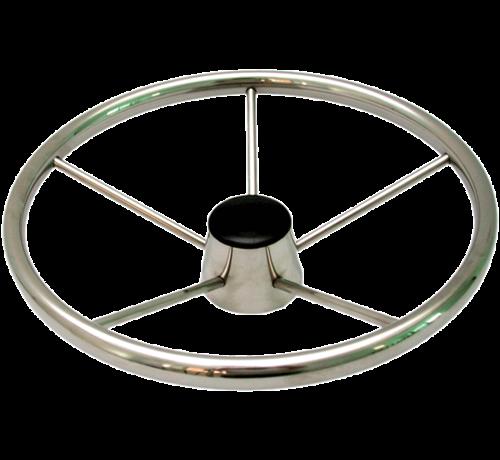 Allpa  6-Spaaks stuurwiel Model RVS Luxe met vingergrip  A=343mm  B=95mm
