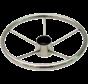 6-Spaaks stuurwiel Model RVS Luxe met vingergrip  A=343mm  B=95mm