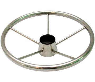 Allpa 6-Spaaks stuurwiel Model RVS Luxe met vingergrip  A=394mm  B=70mm