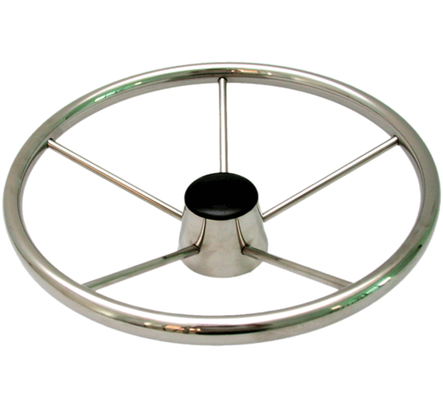6-Spaaks stuurwiel Model RVS Luxe met vingergrip  A=394mm  B=70mm