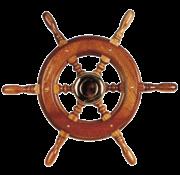 Allpa 6-Spaaks stuurwiel type 2 klassiek mahoniehouten stuur  adapter voor twee conussen  D=490mm