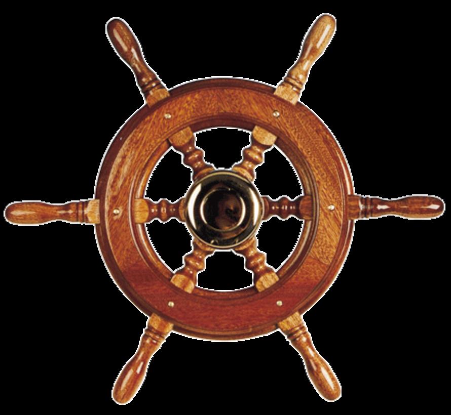 6-Spaaks stuurwiel type 2 klassiek mahoniehouten stuur  adapter voor twee conussen  D=490mm