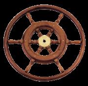 Allpa 6-Spaaks stuurwiel type 3B klassiek mahoniehouten stuur  houten hoepel incl. adapter D=460mm