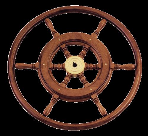 6-Spaaks stuurwiel type 3B klassiek mahoniehouten stuur  houten hoepel incl. adapter D=460mm