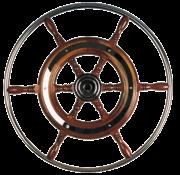 Allpa 6-Spaaks stuurwiel type 3 klassiek mahoniehouten stuur met RVS hoepel incl. adapter  D=490mm