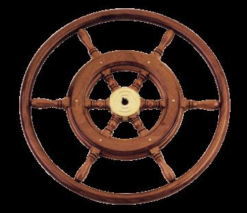 Allpa 6-Spaaks stuurwiel type 3B klassiek mahoniehouten stuur  houten hoepel incl. adapter D=550mm