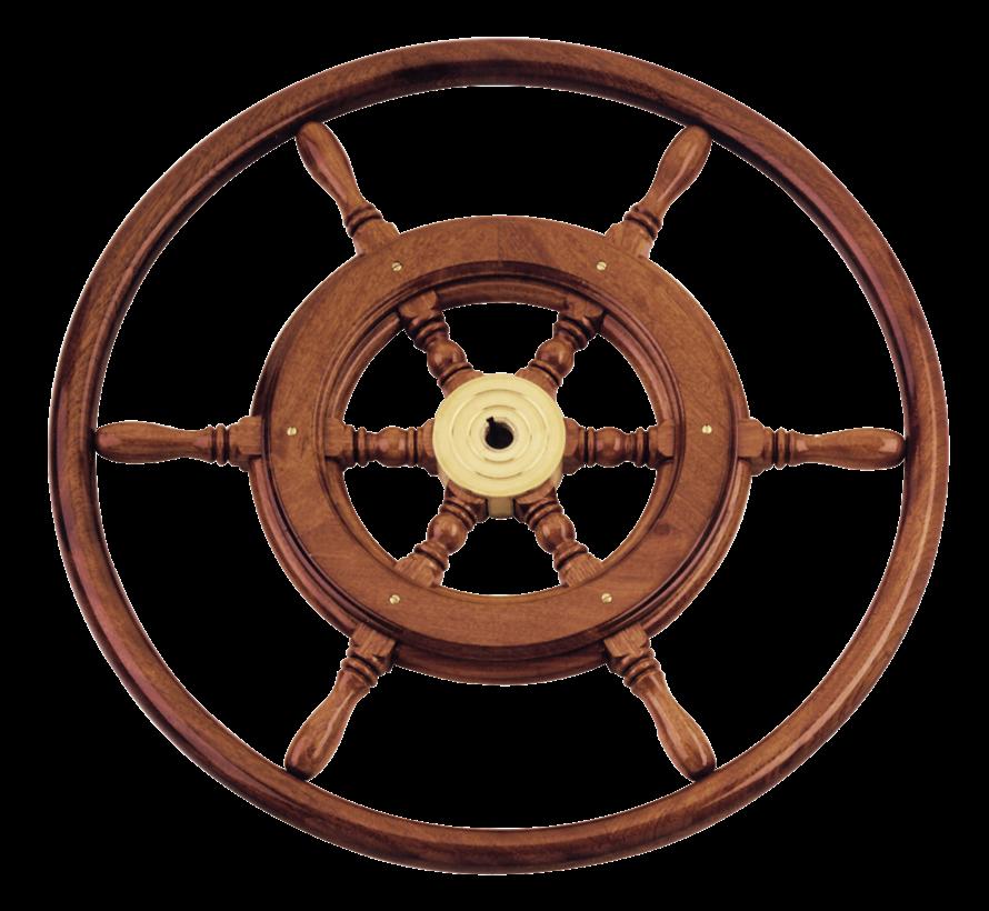6-Spaaks stuurwiel type 3B klassiek mahoniehouten stuur  houten hoepel incl. adapter D=550mm