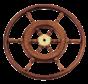6-Spaaks stuurwiel type 3B klassiek mahoniehouten stuur  houten hoepel incl. adapter D=600mm