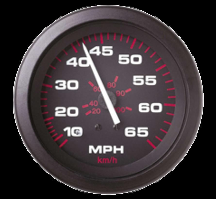 Amega Domed snelheidsmeter 0-65 Mph (inclusief pitot & slang)