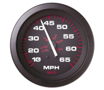 Allpa Amega Domed snelheidsmeter 0-35 Mph (inclusief pitot & slang)