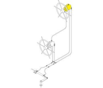 Seastar Seastar-set voor Systeem-6 * 151kgm / voor 2e Stuurstand