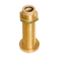 Allpa Bronzen hennegatskoker voor roerkoning D=40mm  L=313mm
