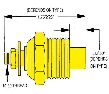 Allpa allpa Watertemperatuurzender single station  1/4 NPT (SW: 240-33 Ohm) (120-240ºF / 50-115ºC)