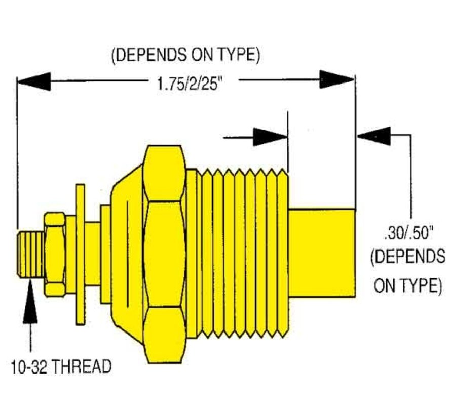 allpa Watertemperatuurzender single station  1/4 NPT (SW: 240-33 Ohm) (120-240ºF / 50-115ºC)