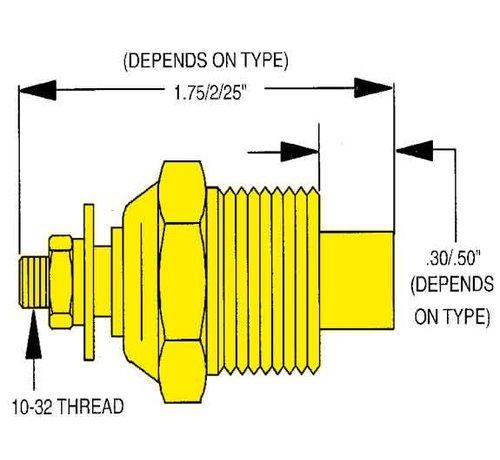 Allpa allpa Watertemperatuurzender single station  3/8 NPT (SW: 240-33 Ohm) (120-240ºF / 50-115ºC)