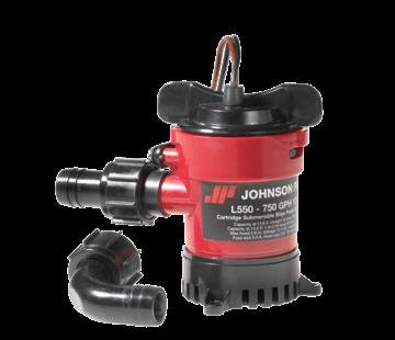 Johnson Johnson Pump L-serie bilgepomp (cartridge type) L750  12V/3A  73l/min  opvoerhoogte max. 2 6m