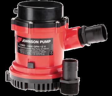 Johnson Johnson Pump L-serie bilgepomp L1600  12V/7A  100l/min  slangaansluiting 1-1/8 & 1-1/4