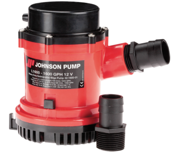 Johnson Johnson Pump L-serie bilgepomp L1600  24V/3 5A  100l/min  slangaansluiting 1-1/8 & 1-1/4