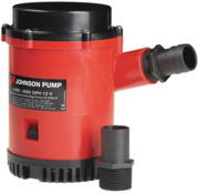 Johnson Johnson Pump L-serie bilgepomp L2200  12V/7 5A  130l/min  slangaansluiting 1-1/8 & 1-1/4